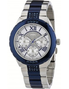 Chic Time | Montre Femme Guess W0413L1 Bleu  | Prix : 359,00€
