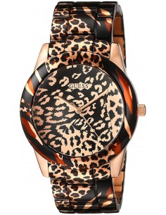 Chic Time | Montre Femme Guess Leopard W0425L3 Marron  | Prix : 299,98 €