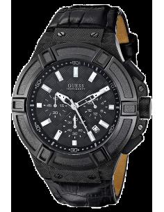 Chic Time   Montre Homme Guess Rigor W0408G1 Bracelet croco en cuir noir    Prix : 349,00€