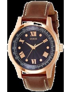 Chic Time | Montre Homme Guess District W0494G2 Bracelet brun en cuir  | Prix : 249,00€