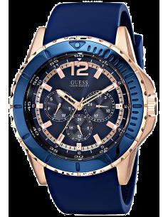 Chic Time   Montre Homme Guess Maverick W0485G1 Bracelet en silicone bleu    Prix : 299,00€