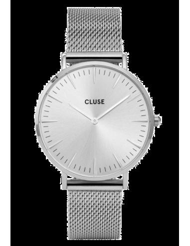 Chic Time | Montre Cluse La Bohème CL18114 Bracelet en maille milanaise argenté  | Prix : 64,35€