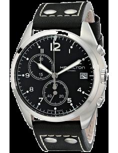 Chic Time | Montre Hamilton H76512733 Pilot Pioneer chronographe cadran noir sur cuir 41 mm  | Prix : 485,00€