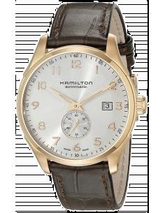 Chic Time | Montre Hamilton H42575513 Jazzmaster Maestro Petite Seconde automatique PVD or rose cadran blanc  | Prix : 1,030.50