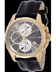 Chic Time | Montre Hamilton H32546781 Jazzmaster Chronographe automatique PVD or rose cadran ardoisee cadran blanc  | Prix : ...