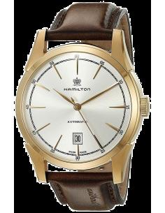Chic Time | Montre Hamilton H42445551 Timeless Classic Spirit of Liberty automatique PVD or rose cadran argenté  | Prix : 965...