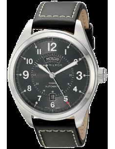 Chic Time   Montre Hamilton H70505733 Khaki Field Day Date automatique bracelet cuir noir    Prix : 745,00€