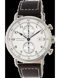 Chic Time | Montre Hamilton H77706553 Khaki Navy Pioneer chronographe automatique cadran argent  | Prix : 1,695.00