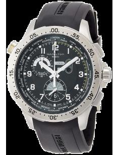 Chic Time   Montre Hamilton H76714335 Khaki Aviation worldtimer quartz bracelet caoutchouc    Prix : 1,195.00