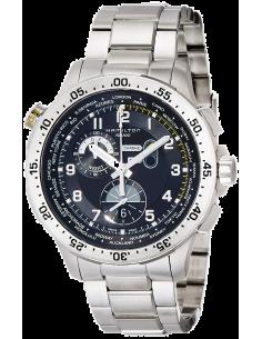 Chic Time | Montre Hamilton H76714135 Khaki Aviation worldtimer quartz bracelet acier  | Prix : 1,195.00