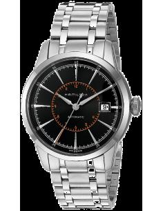 Chic Time | Montre Hamilton H40555131 Railroad Automatique trois aiguilles cadran noir bracelet acier  | Prix : 925,00€
