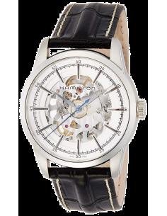 Chic Time   Montre Hamilton H40655751 Railroad Skeleton Automatique bracelet cuir    Prix : 1,230.00