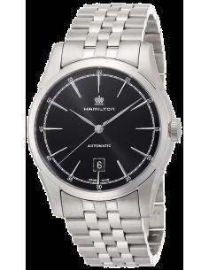 Chic Time | Montre Hamilton H42415031 Spirit of Liberty automatique 80 heures cadran noir bracelet acier  | Prix : 805,50€