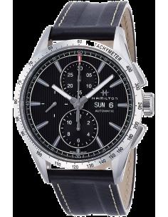 Chic Time | Montre Hamilton H43516731 Broadway automatique chronographe acier sur cuir 43 mm  | Prix : 1,795.00