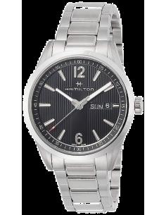 Chic Time | Montre Hamilton H43311135 Broadway Day-Date quartz acier cadran noir 40 mm  | Prix : 575,00€