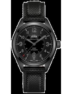 Chic Time   Montre Hamilton H71626735 Khaki Field Auto Chrono acier PVD noir sur caoutchouc 42 mm    Prix : 1,507.50