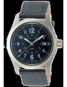 Chic Time | Montre Hamilton H70605943 Khaki Field Auto acier sur textile bleu 42 mm  | Prix : 625,50€