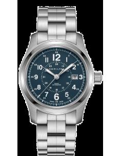 Chic Time | Montre Hamilton H70605143 Khaki Field Auto acier cadran bleu 42 mm  | Prix : 745,00€