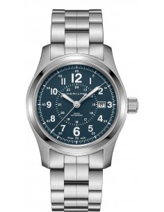 Chic Time   Montre Hamilton H70605143 Khaki Field Auto acier cadran bleu 42 mm    Prix : 745,00€