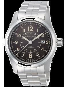 Chic Time | Montre Hamilton H70605193 Khaki Field Auto acier cadran marron 42 mm  | Prix : 795,00€