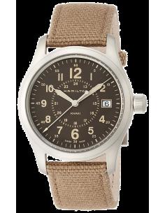 Chic Time   Montre Hamilton H68201993 Khaki Field quartz acier sur textile beige 38 mm    Prix : 375,00€