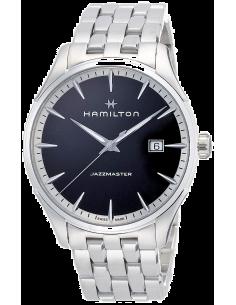 Chic Time   Montre Hamilton H32451131 Jazzmaster quartz acier cadran noir 40 mm    Prix : 545,00€