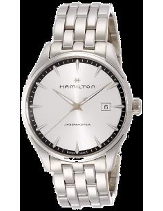 Chic Time | Montre Hamilton H32451151 Jazzmaster quartz acier cadran argenté 40 mm  | Prix : 545,00€