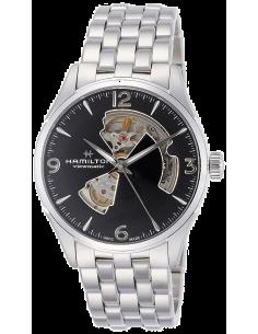 Chic Time | Montre Hamilton H32705131 Jazzmaster Open Heart automatique H-10 acier cadran noir 42 mm  | Prix : 975,00€