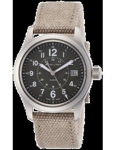Chic Time | Montre Hamilton H68201963 Khaki Field quartz acier cadran vert sur canevas 38 mm  | Prix : 375,00€