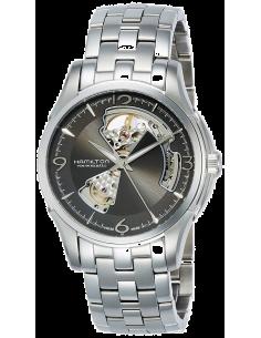 Chic Time   Montre Hamilton H32565185 Jazzmaster Open Heart automatique acier cadran ardoise 40mm    Prix : 775,00€