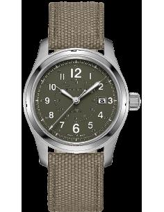 Chic Time | Montre Hamilton H70605963 Khaki Field automatique H-10 bracelet caneva vert 42 mm  | Prix : 695,00€