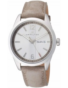 Chic Time | Montre Hamilton H43311915 Broadway quartz acier sur cuir anthracite 40 mm  | Prix : 495,00€