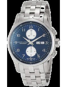Chic Time   Montre Hamilton H32766143 Jazzmaster maestro automatique acier cadran bleu 45 mm    Prix : 1,515.00