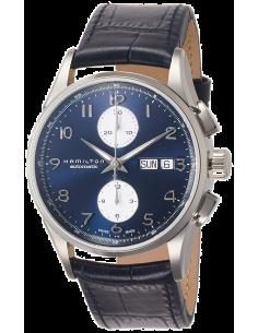 Chic Time | Montre Hamilton H32576641 Jazzmaster maestro automatique acier sur cuir bleu cadran bleu 41 mm  | Prix : 1,255.50