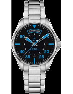 Chic Time | Montre Hamilton H64625131 Khaki Pilot Day Date automatique bracelet acier ed. spéciale Air Zermatt  | Prix : 845,...
