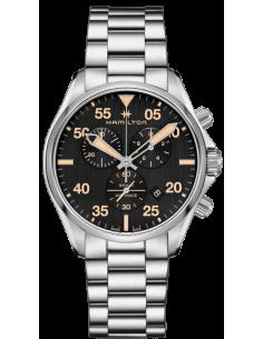 Chic Time | Montre Hamilton H76722131 Khaki Pilot cadran noir bracelet acier ed. spéciale Red Bull Air race 2018  | Prix : 67...