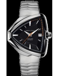 Chic Time | Montre Hamilton H24555131 Ventura Elvis80 automatique cadran noir bracelet acier  | Prix : 1,210.50