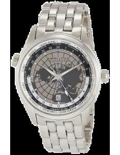 Chic Time | Montre Hamilton H32605181 Jazzmaster GMT planisphère automatique bracelet acier 42 mm  | Prix : 1,125.00