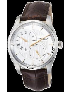 Chic Time | Montre Hamilton H42615551 Jazzmaster Regulator automatique acier cadran argenté bracelet cuir marron  | Prix : 96...