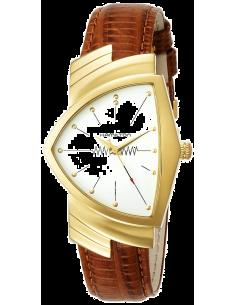 Chic Time | Montre Hamilton H24301511 Ventura Marron Cuir bracelet  | Prix : 895,00€