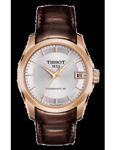 Chic Time | Montre Femme Tissot Couturier T0352073603100 Marron  | Prix : 650,00€