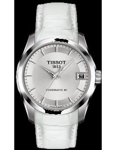 Chic Time | Montre Femme Tissot Couturier T0352071611600 Blanc  | Prix : 710,00€