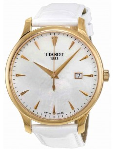 Chic Time   Montre Femme Tissot Tradition T0636103611601 Blanc    Prix : 370,00€