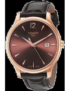 Chic Time | Montre Femme Tissot Tradition T0636103629700 Marron  | Prix : 339,99€