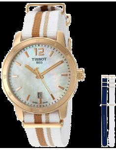 Chic Time | Montre Femme Tissot Quickster T0954103711700 Blanc  | Prix : 385,00€