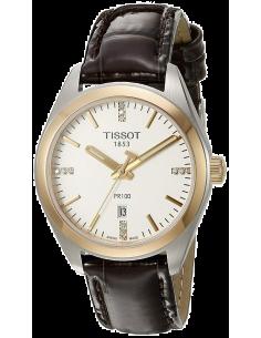 Chic Time   Montre Femme Tissot PR 100 T1012102603600 Marron    Prix : 399,99€