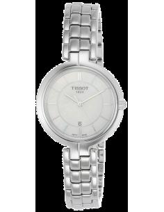 Chic Time | Montre Femme Tissot Flamingo T0942101111100 Bracelet Argenté En Acier Inoxydable  | Prix : 245,83€