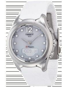 Chic Time | Montre Femme Tissot T-Touch Solar T0752201701700 Bracelet en silicone blanc  | Prix : 658,33€
