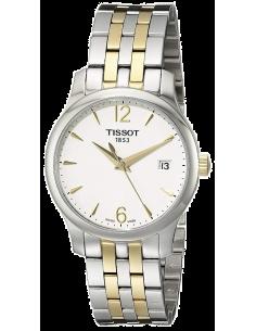 Chic Time | Montre Femme Tissot Tradition T0632102203700 Bracelet argenté et doré en acier  | Prix : 419,99€