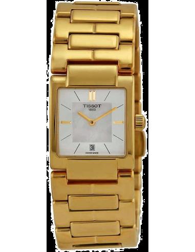 Chic Time   Montre Femme Tissot T02 T0903103311100 Bracelet et boîtier en acier doré    Prix : 359,00€